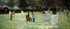 The tennis game