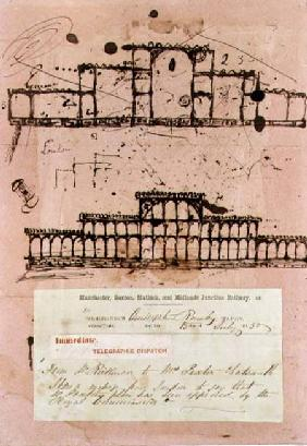 Great Exhibition, 1851: first sketch for the building