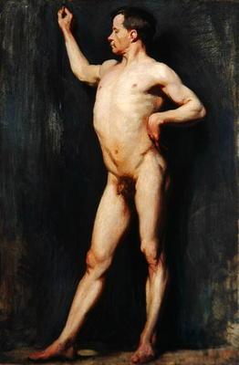 Male Figure Standing, 1899 (oil on canvas)