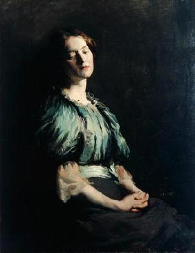 Portrait of a Girl Wearing a Green Dress, 1899 (oil on canvas)