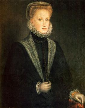 Portrait of Anna of Austria (1549–1580), Queen consort of Spain and Portugal