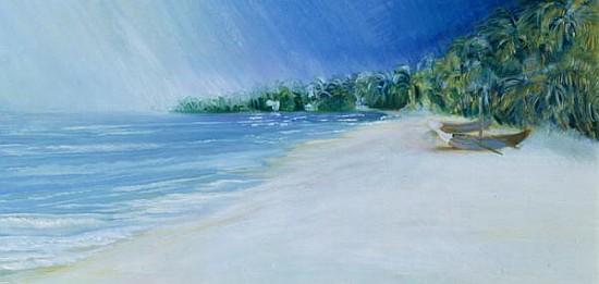 coco beach goa india 1997 oil on boa sophia elliot as art print or hand painted oil. Black Bedroom Furniture Sets. Home Design Ideas