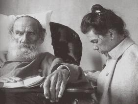 The Sick Leo Tolstoy with daughter Tatyana in Gaspra on the Crimea