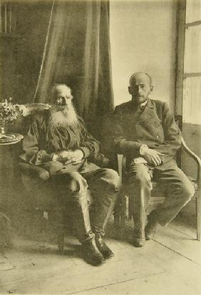Leo Tolstoy with son Leo