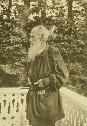 Leo Tolstoy on the Balcony
