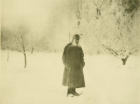 Winter walking of Leo Tolstoy
