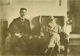 Leo Tolstoy with the Balalaika Player Boris Troyanovsky