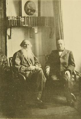 Leo Tolstoy with the Liberal Jurist Anatoly Koni (1844-1927)