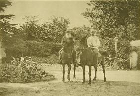 Leo Tolstoy riding in Yasnaya Polyana