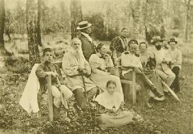 Leo Tolstoy with Guests in Yasnaya Polyana (second from right composer Sergei Taneyev)
