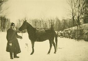 Leo Tolstoy with a Horse in Yasnaya Polyana