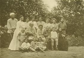 Leo Tolstoy with his Family in Yasnaya Polyana