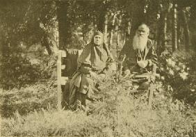 Leo Tolstoy with his sister Maria Nikolaevna (1830-1912)
