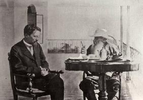 Leo Tolstoy and the Author Anton Chekhov in Gaspra