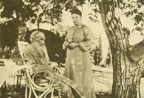 Leo Tolstoy and Sophia Andreevna in Gaspra on the Crimea
