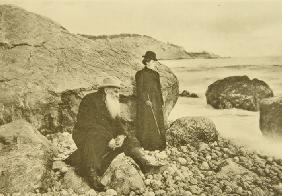 Leo Tolstoy and Daughter Alexandra on the Crimea