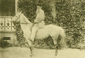 Leo Tolstoy on horseback in Moscow