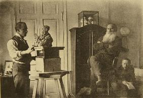 Leo Tolstoy and the sculptor Prince Paolo Troubetzkoy