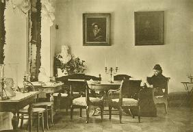 Tolstoy's wife, Sophia Andreevna, in Dining room in Yasnaya Polyana