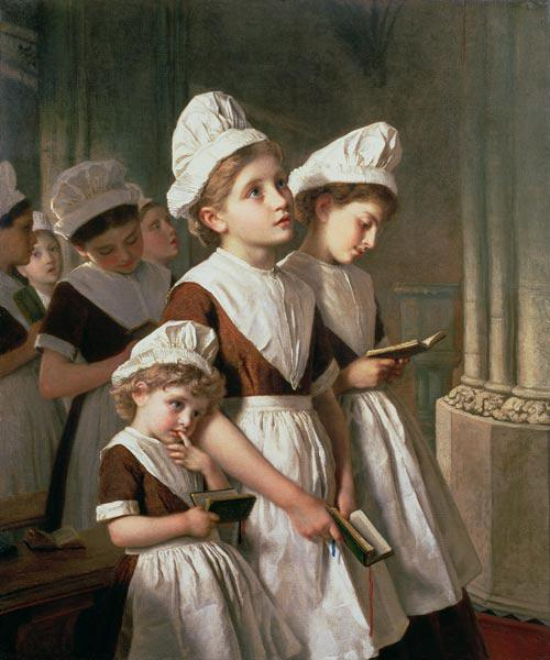 Foundling Girls at Prayer in the Chapel