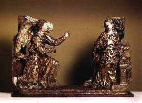 The Annunciation, Painted Wooden Sculpture