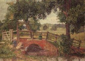 Gore, Spencer Frederick : The Bridge at Panshanger P...