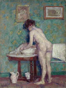 Gore, Spencer Frederick : Interior with Nude (oil on...