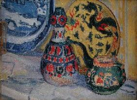 Gore, Spencer Frederick : Still life with Oriental f...