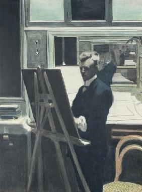 Self Portrait with Easel in the Mirror