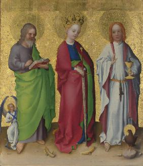 Saints Matthew, Catherine of Alexandria and John the Evangelist
