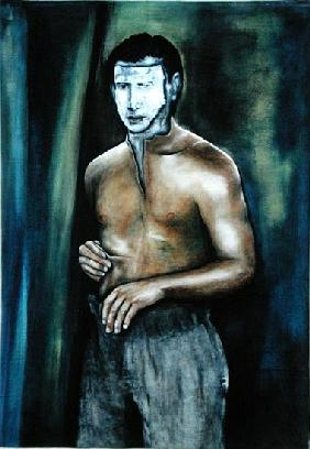 Man Changing in the Presence of Spirits, 2002 (oil on canvas)
