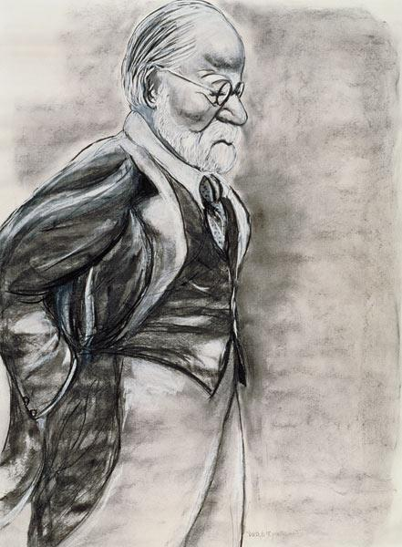 Sigmund Freud (1856-1939) 1998 (charcoal and pastel on paper)