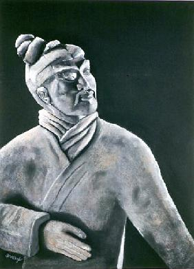 Terracotta Warrior, 2000 (pastel on paper)