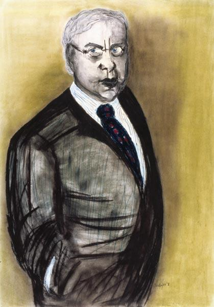 The Lawyer, 1998 (pastel and charcoal on paper)