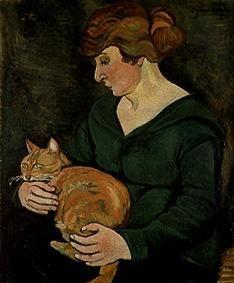 Woman with cat (Louson et Raminow)
