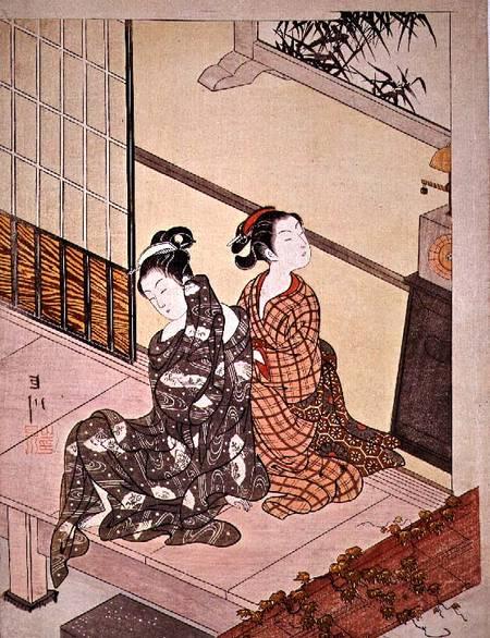Evening Bell At The Clock By Suzuki Harunobu