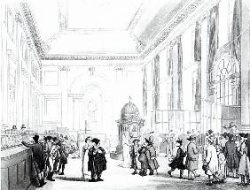Bank of England, Great Hall, from Ackermann''s ''Microcosm of London''