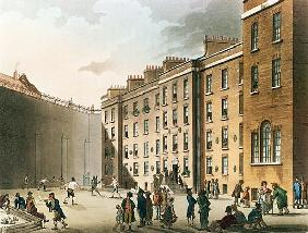The Fleet Prison from Ackermann''s ''Microcosm of London'', Volume II