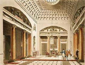 The Hall, Carlton House, from Ackermann''s ''Microcosm of London''