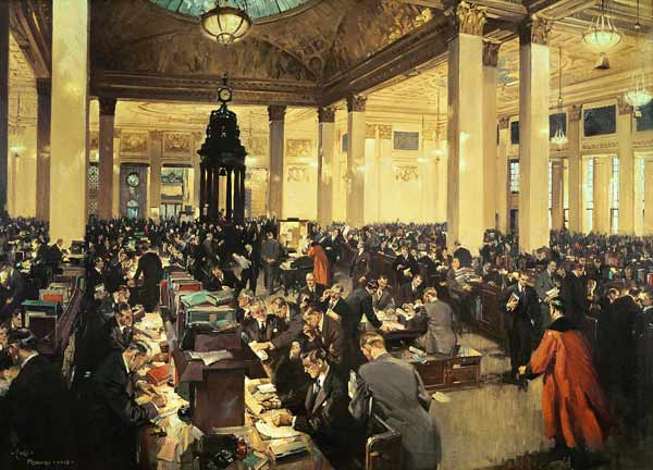 The Underwriting Room At Lloyds Of Londo Terence Cuneo
