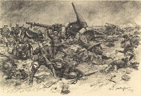 Austrian Hungarian infantry in fight with the Italian reservists
