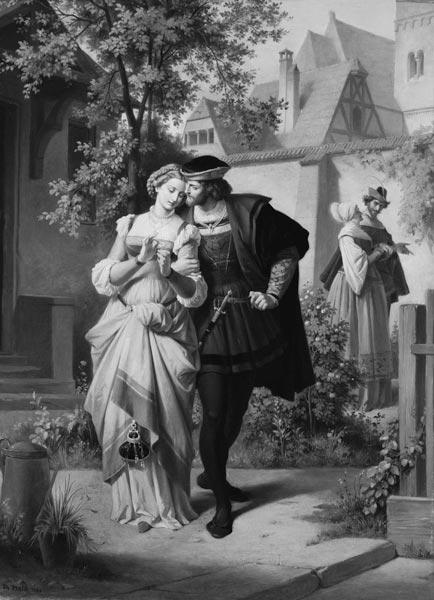 Faust und Gretchen, Marthe und Mephisto - Theodor Pixis as
