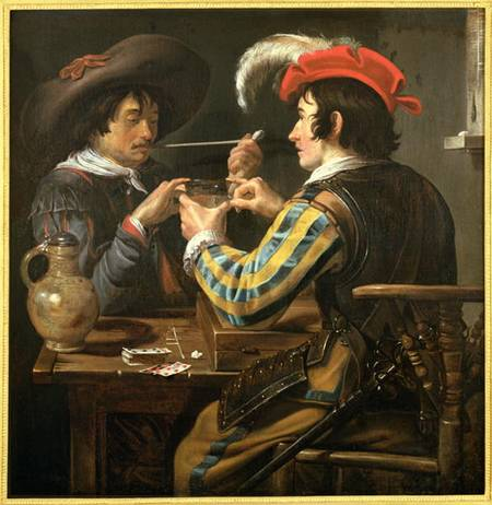 The Card Players Theodor Rombouts As Art Print Or Hand Painted Oil - Who painted the card players