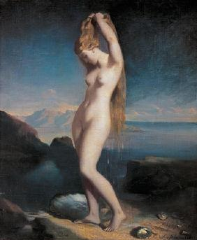 Venus got off the sea.