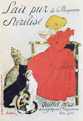 Steinlen, Th�ophile-Alexandre : Poster advertising 'Pure S...