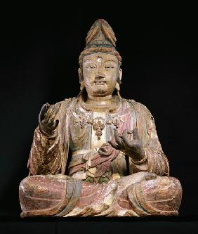 A Highly Important Polychrome Wood Figure Of Guanyin