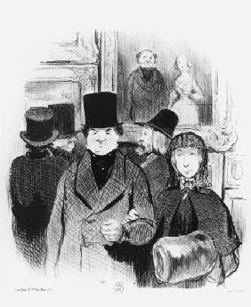 Salon exhibition / Lith. by Daumier
