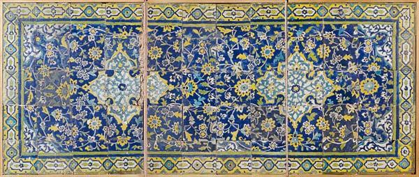 Safavid Cuerda Seca Tile Panel