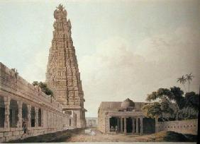 Hindoo Temple at Madura, plate XVI from 'Oriental Scenery'