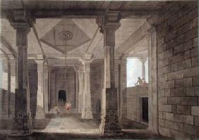 Part of the Interior of an Hindoo Temple at Deo, in Bahar, plate VI from 'Oriental Scenery'